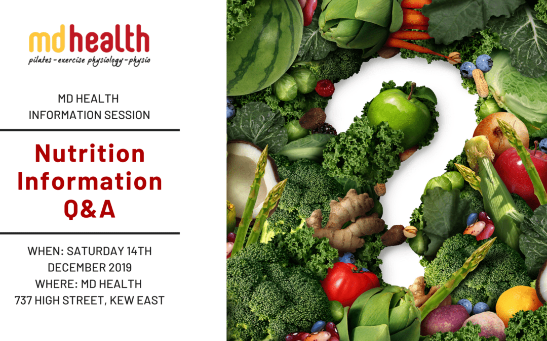 MD Health Information Session: Nutrition Q&A
